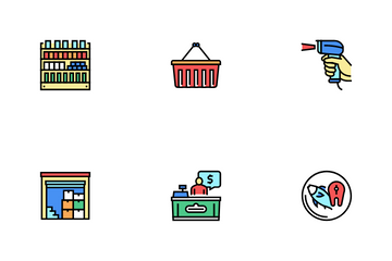 Supermarket Store Icon Pack