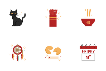 Superstitious Beliefs Icon Set. Icon Pack