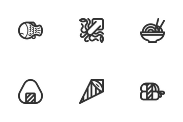 Sushi Feast (Line) Icon Pack