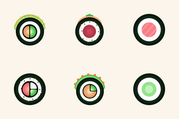 Sushi Rolls Icon Pack