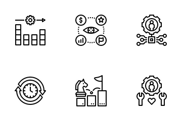 Sustainable Competitive Advantage Icon Pack