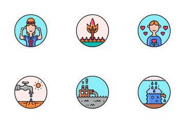 Sustainable Development Icon Pack