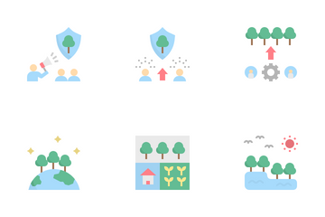 Sustainable Forest Management Icon Pack