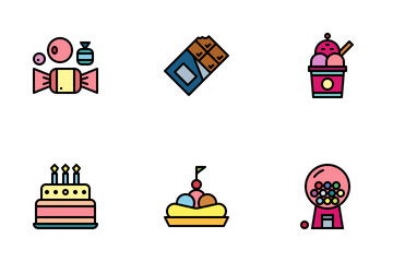 Sweet And Candies Icon Pack