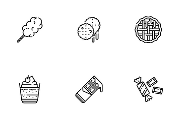 Sweet And Dessert Line - Patisserie Icon Pack