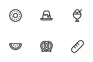 Sweets And Dessert Icon Pack