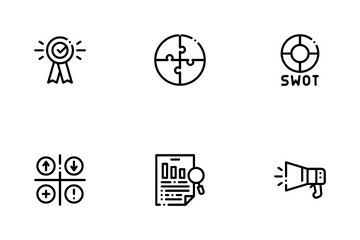 Swot Analysis Strategy Icon Pack