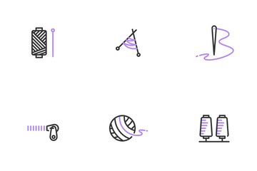 Tailor & Sewing Icon Pack