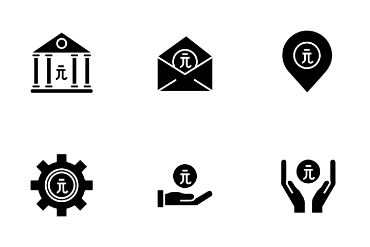 Taiwan Dollar Icon Pack Glyph Icons Iconscout