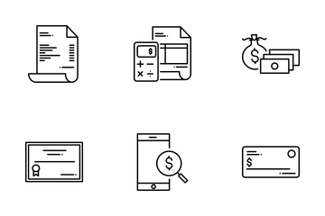 Tax Invoice And Payment Icon Pack
