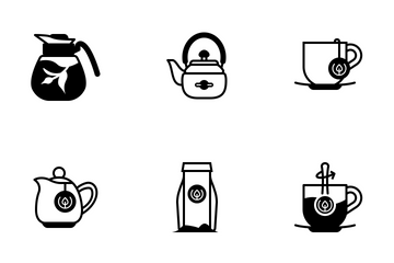 Tea Time (glyph) Icon Pack