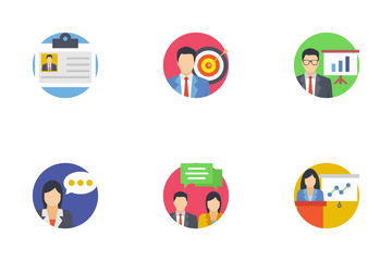 Team Management Icon Pack