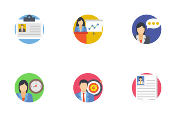 Team Management Flat Icons Icon Pack