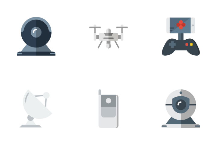 Tech 2 - Flat Icon Pack