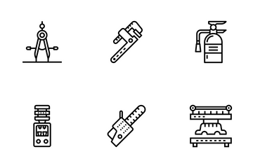 Technical Tools And Machines Icon Pack