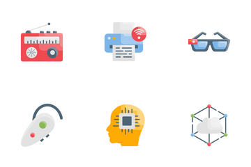 Technology And Smart Working Icon Pack