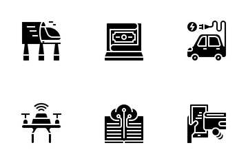 Technology Disruption Icon Pack