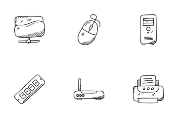 Technology Doodle Icons  Icon Pack