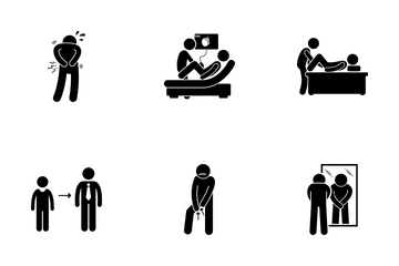 Testicular Cancer Icon Pack