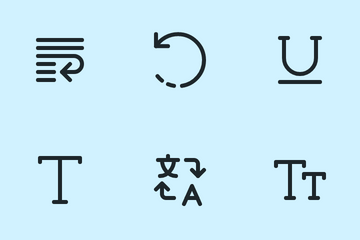 Text & Alignment Icon Pack