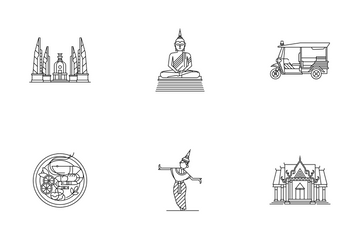 Thailand Element Line - Amazing Thailand Icon Pack