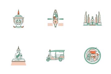Thailand Element Line Color - Amazing Thailand Icon Pack