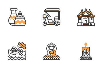 Thailand Symbols  Icon Pack