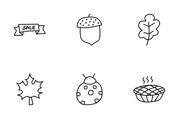 Thanksgiving Day Doodles Icon Pack