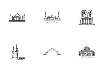 The Middle East And Central Asia Icon Pack