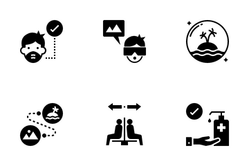 The New Normal Travel And Tourism Icon Pack