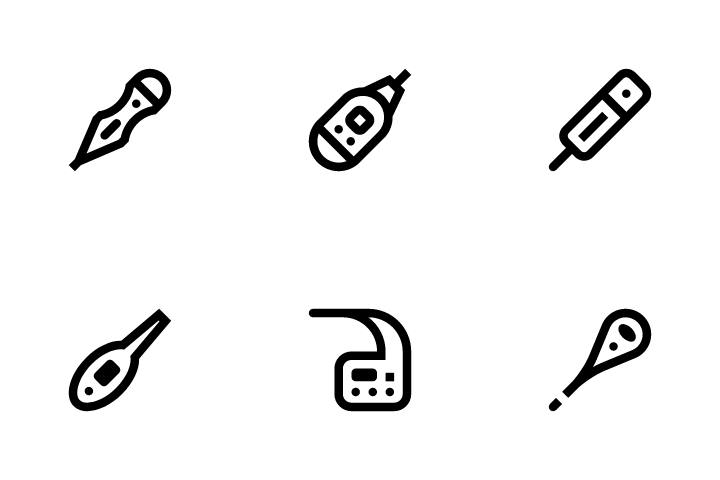 Thermometer Icon Pack