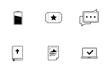 Thin Line (Outline) Icon Pack
