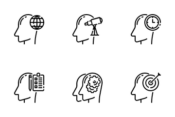 Thinking And Brain Icon Pack