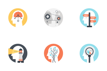 Thinking And Brain Activity Icon Pack