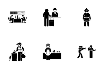 Third Liner Worker Icon Pack