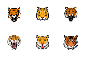 Tiger Face Icon Pack