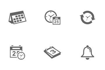 Time And Schedule Icon Pack