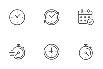 Time & Clock Icon Pack