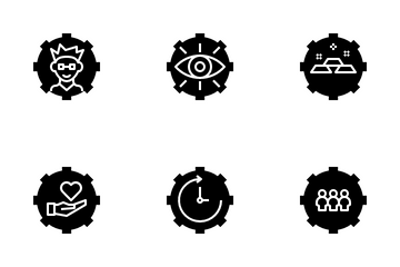 Time Management Glyph Icon Pack