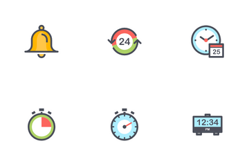 Time & Schedule Icon Pack