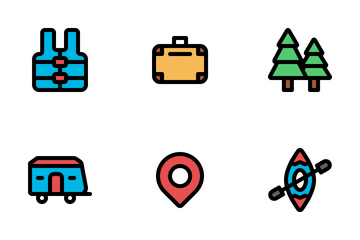 Tiny Camping And Adventure Icon Pack