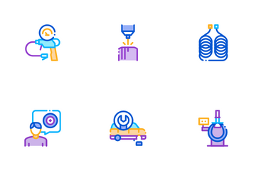 Tire Fitting Service Icon Pack