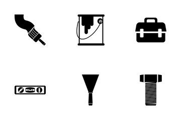 Tools Glyphs Icon Pack