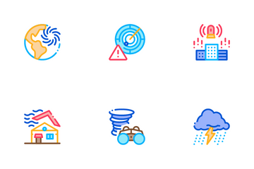 Tornado And Hurricane Icon Pack