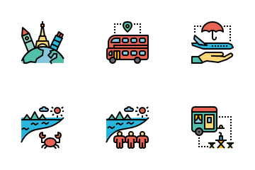 Tourism And Travel Icon Pack
