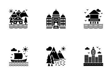 Tourism Glyph Icons Icon Pack