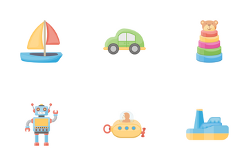 Toys Flat Icon Pack