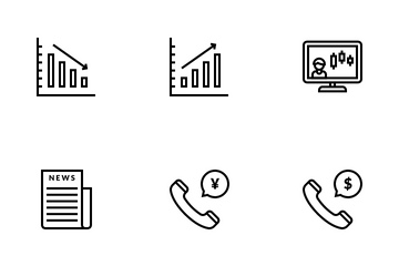 Trading & Finance Icon Pack
