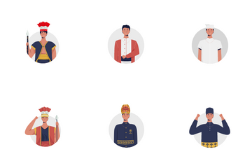 Traditional Men's Clothing In Indonesia Icon Pack