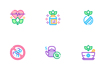 Traditional Naturopathy Medicine Icon Pack